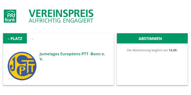 Vereinspreis - PSD Bank - Jumelages Bonn macht mit!